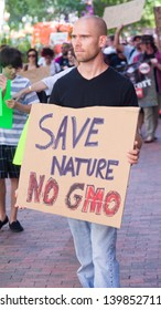 ORLANDO, FL-MAY 25: Protesters rallied in the streets against the Monsanto corporaton. The company is accused of genetically modifying foods unsafely. May 25, 2013 in Orlando, Florida.