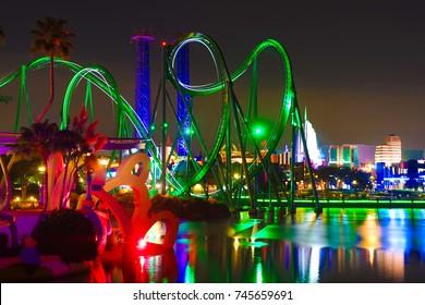 ORLANDO, FLORIDA - 8 JULY 2017.  Universal Studios Islands of Adventure
