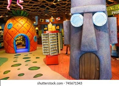 ORLANDO, FLORIDA - 8 JULY 2017. Sponge Bob Shop inside Universal Studios