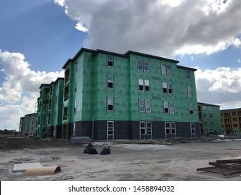 Orlando Florida April 1 2019: Reidential Building Construction . Photo image