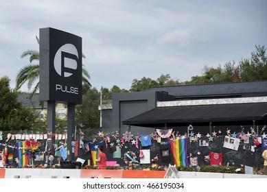 Orlando Florida - August 9th 2016, Pulse Nightclub Memorial: Orlando Florida Pulse nightclub massacre memorial planned