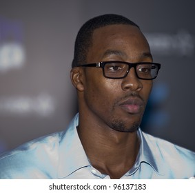ORLANDO, FLORIDA - FEB. 24: Basketball star Dwight Howard attends the VIP All-Star party hosted by him and Adidas.  FEB. 24, 2012 in Orlando Florida.