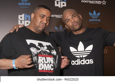 ORLANDO, FLORIDA - FEB. 24: Rap artist DMC (Right) attends the VIP All-Star party hosted by Dwight Howard and Adidas on Feb. 24, 2012 in Orlando Florida.