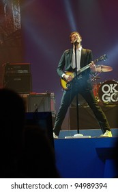 ORLANDO, FLORIDA - JANUARY 15: Damian Kulash lead vocals and guitar player of rock band OK Go performs at IBM Lotusphere conference on January 15, 2012. OK Go got fame for its videos on YouTube