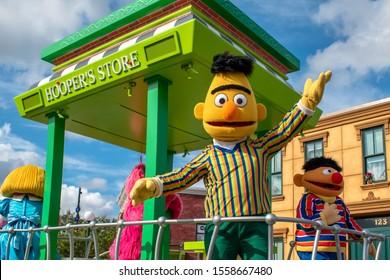 Orlando, Florida. November 06, 2019. Bert and Ernie In Sesame Street Party Parade at Seaworld 5