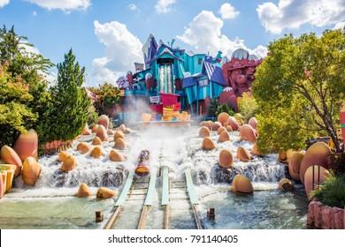 Orlando, Florida: November 30, 2017: Universal Studios Islands of Adventure theme park in Orlando, Florida.