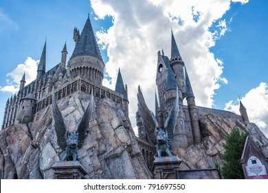 Orlando, Florida: November 30, 2017:  Harry Potter and the Forbidden Journey at Universal's Islands of Adventure in Orlando, Florida.