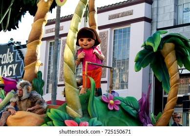 Orlando, Florida September 2017: Dora the Explorer! in Universal Studios (Universal's Superstar Parade)