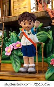 Orlando, Florida September 2017: Go, Diego, Go! in Universal Studios (Universal's Superstar Parade)