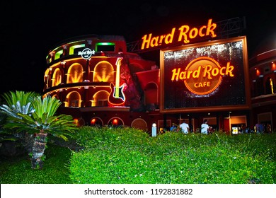 Orlando, Florida. September 23, 2018. Hard Rock Live Cafe at Citywalk Universal Studios