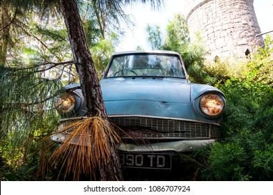 Orlando, Florida/ United States of America- October 15th 2010: Enchanted Car in the Wizarding World of Harry Potter at Universal Studios