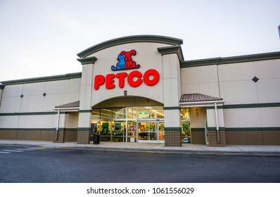 Orlando, Florida/ United States - March 27, 2018: Petco is a pet retailer in the United States.