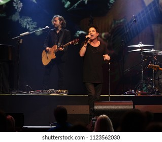 Orlando, Florida /USA - 06-26-2018: Hall and Oates performing with Train live at the Amway Center