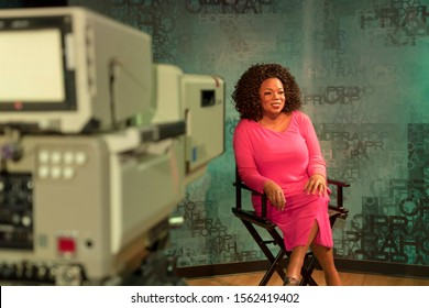 Orlando, Florida / USA - 10th September 2019: Oprah Winfrey, talk show host. Madame Tussauds Wax museum at ICON Park on International Drive, the ultimate fame experience getting close to the stars.