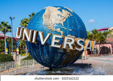 Orlando, Florida, USA - April 27th 2017: Universal Studios Globe