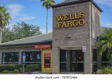 Orlando, Florida / USA- August 3, 2017 Wells Fargo Bank