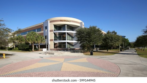 ORLANDO, FLORIDA, USA - FEBRUARY 25, 2017:  The University of Central Florida's Psychology building.   Their mission to provide quality education at the undergraduate, master's, and doctoral levels.