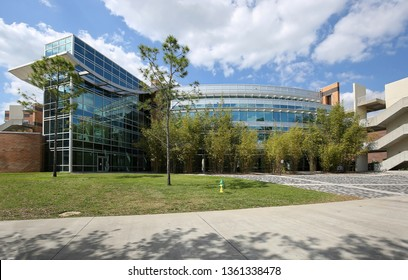 ORLANDO, FLORIDA, USA - MARCH:  Department of Electrical Engineering & Computer Science building located on the main campus of the University of Central Florida (UCF) as seen on March 15, 2019.
