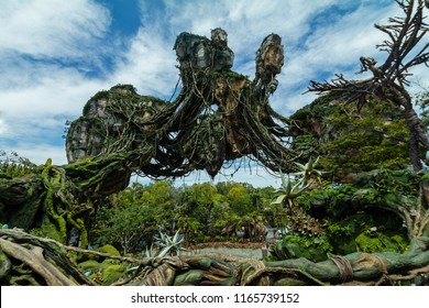 Orlando, Florida USA / May 12, 2017 Pandora The World of Avatar, Floating Islands Walt Disney World Animal Kingdom Park