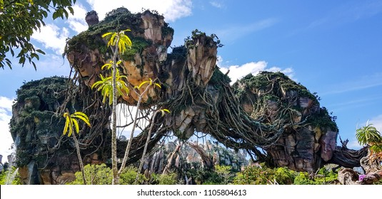 Orlando, Florida USA - October 12, 2017 : Pandora The World of Avatar, Floating Islands at Walt Disney World Animal Kingdom Park.