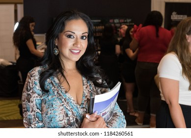Orlando, Florida / USA - September 15, 2018: Portrait of an Beautiful Woman  at The Makeup Show in Orlando, FL