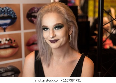 Orlando, Florida / USA - September 15, 2018: Portrait of a Gorgeous Woman at The Makeup Show in Orlando, FL