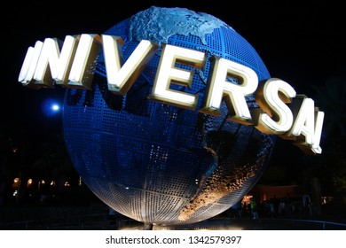 Orlando, Florida/USA-07/10/2006: Universal Studios sign at night