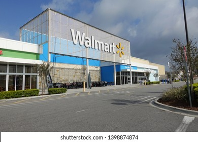 Orlando, FL/USA - 05/3/19: Walmart Inc, founded by Sam Walton, is an American multinational retail corporation that operates a chain of discount department stores and grocery stores.