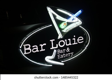 Orlando, FL-USA August 11,2019: Bar Louie is bar and restaurant chain founded in 1990. Bar Louie serves food, beer, and cocktails, from locations predominantly located in urban and suburban markets.