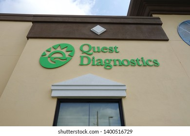 Orlando, FL/USA-5/9/19: Quest Diagnostics Incorporated (NYSE:DGX) is an American clinical laboratory founded in 1967. As a Fortune 500 company, Quest operates in the US, UK, Mexico & Brazil.