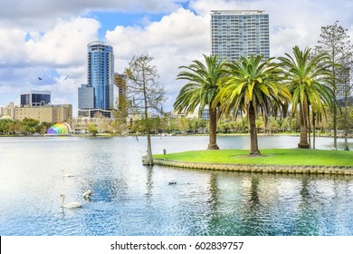 Orlando. Located in Lake Eola Park, Orlando, Florida, USA.
