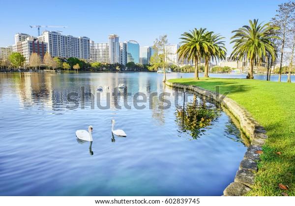 Orlando. In Lake Eola Park, Orlando, Florida, USA.