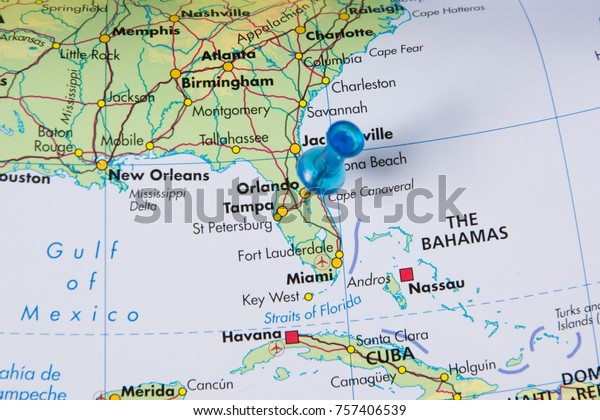 Orlando Pinned On Map Florida Usa Stock Photo (Edit Now ...