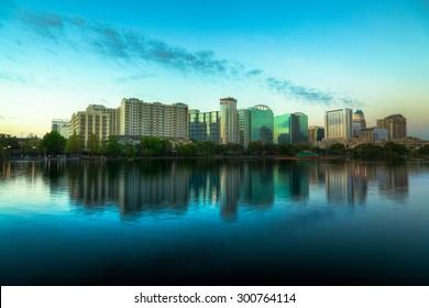 Orlando Skyline at Dusk