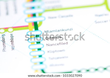 Orlando Metro Map.Orlando Station Johannesburg Metro Map Stock Photo Edit Now