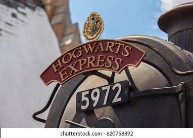 ORLANDO. USA. FLORIDA. APRIL. 2017: Hogsmeade. Hogwarts Express. The Wizarding World of Harry Potter. Universal Studios.