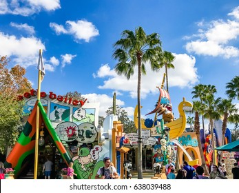 ORLANDO. USA. FLORIDA - JANUARY 05, 2017: Toon Lagoon places. Islands of Adventure. Universal Studios Orlando is a theme park resort in Orlando, Florida, USA.