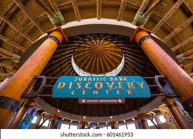 ORLANDO. USA. FLORIDA - MARCH 11, 2017: Universal. Islands of Adventure. Jurassic Park. Discovery.