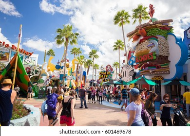 ORLANDO. USA. FLORIDA - MARCH 11, 2017: Toon Lagoon places. Islands of Adventure. Universal. Florida. USA.