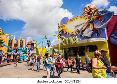 ORLANDO. USA. FLORIDA - MARCH 11, 2017: Marvel Super Hero Island. Islands of Adventure. Florida. USA.