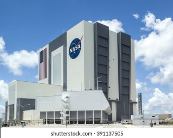 ORLANDO, USA - JULY 25, 2010: The Vehicle Assembly Building at NASA, Kennedy Space Center in Florida, Orlando.