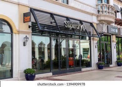 ORLANDO, USA: MAY 01 2019: Exterior image of a Superdry shop front