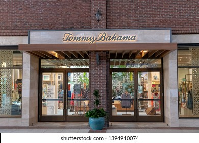 ORLANDO, USA: MAY 01 2019: Exterior image of a Tommy Bahama shop front