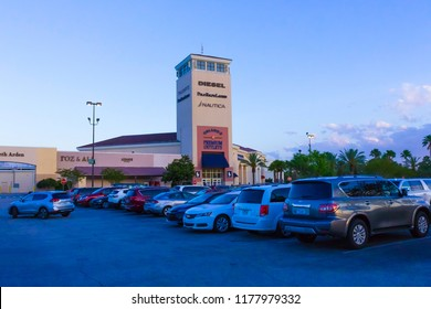 Orlando, USA - May 10, 2018: The shopping mall Orlando premium outlet at Orlando, USA on May 10, 2018