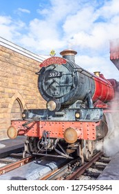 Orlando,Florida / United State - December 24 2018 : The Hogwarts Express at The Wizarding World Of Harry Potter Potter in Adventure Island of Universal Studios