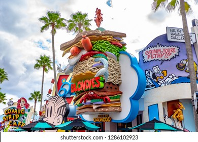 Orlando,Florida / United State - December 24 2018 : Blondie's restaurant, home of the Dagwood sandwich (Universal's Islands of Adventure)