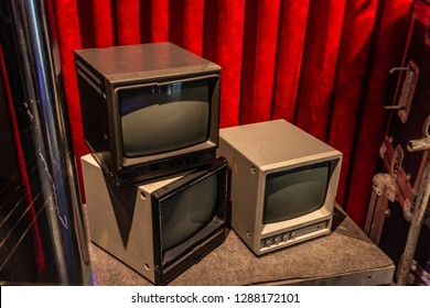 Orlando,Florida / United State - December 24 2018 : This old monitor was use by NBC in 1990's. It is exhibited at Universal Studios Florida.