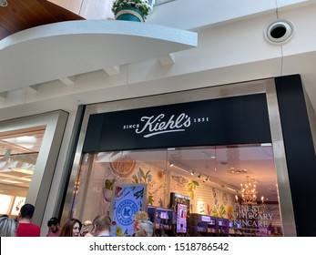 Orlando,FL/USA-9/30/19: A Kiehl's store at an indoor mall. Kiehl's LLC is an American cosmetics brand retailer that specializes in skin, hair, and body care products.