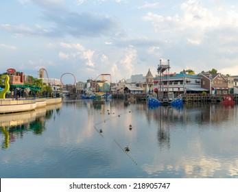ORLANDO,USA - AUGUST 23, 2014 : General view of the  Universal Studios Florida theme park