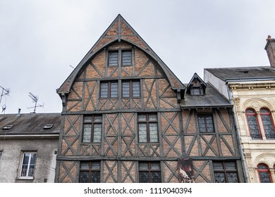 ORLEANS, FRANCE - JUNE 10, 2018: View of famous home of Joan of Arc in central Orleans. Home of Joan of Arc houses a multimedia room and a research and documentation center.